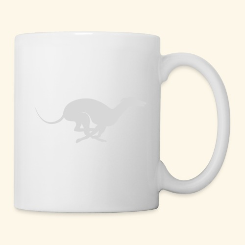 Light Grey Running Greyhound - Coffee/Tea Mug