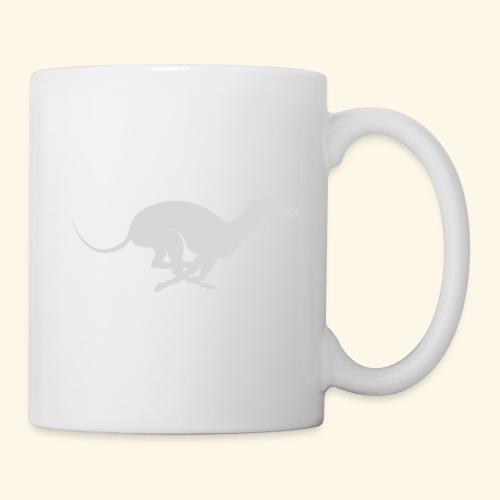 Light Grey Running Greyhound - Coffee/Tea Mug