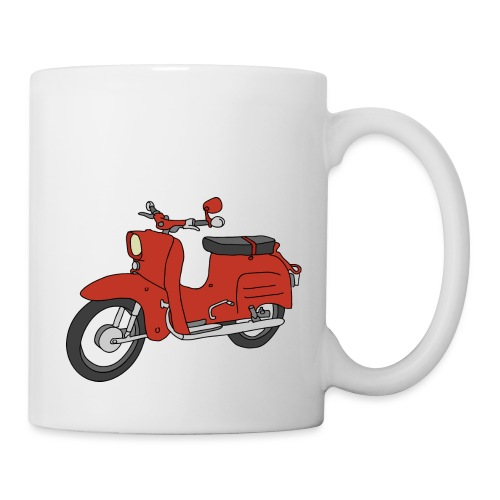 Schwalbe, ibiza-red scooter from GDR - Coffee/Tea Mug