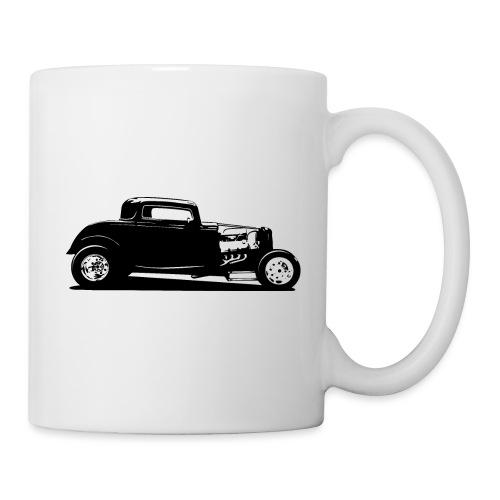 Classic American Thirties Hot Rod Car Silhouette - Coffee/Tea Mug
