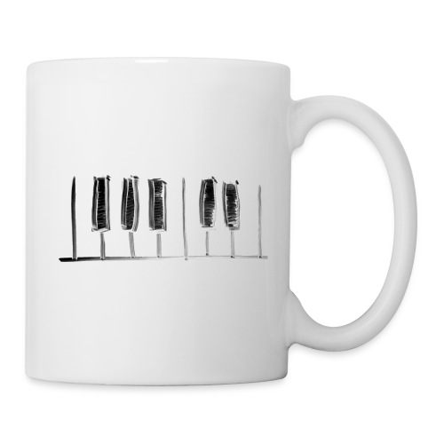 Hand Drawn Minimal Piano Design   Piano Keys - Coffee/Tea Mug