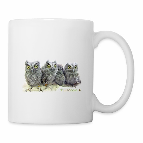 Five Western Screech Owls at WildCare - Coffee/Tea Mug