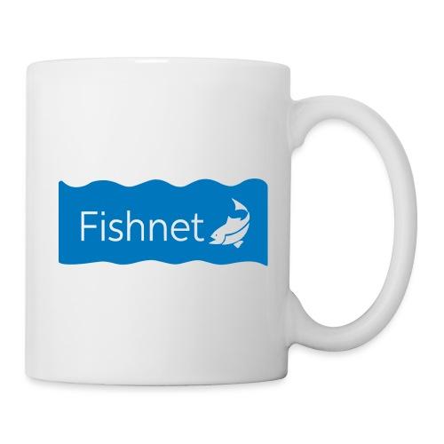 Fishnet (Blue & White Wave) - Coffee/Tea Mug