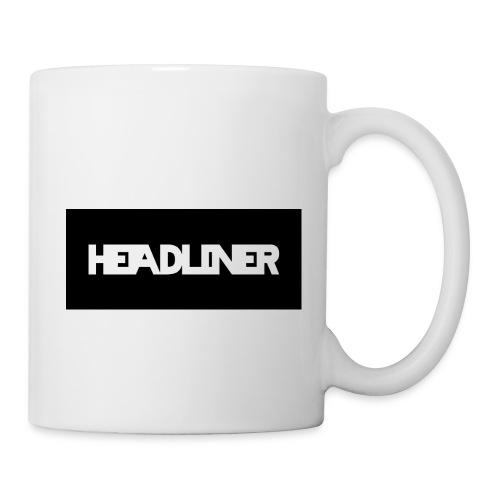 HEADLINER LOGO TRANSPARENT ON BLACK - Coffee/Tea Mug