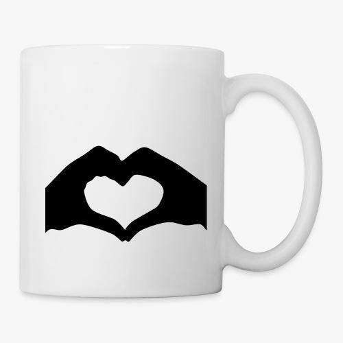 Silhouette Heart Hands   Mousepad - Coffee/Tea Mug
