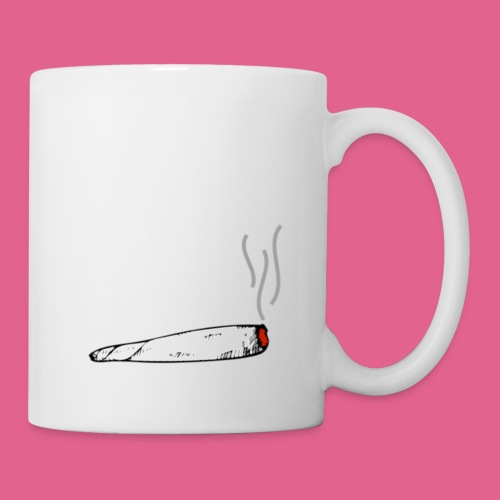 LIT WHITE BLACK GREY AND RED JOINT - Coffee/Tea Mug