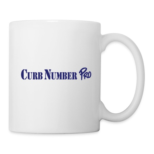 Blue Curb Number Pro Logo - Coffee/Tea Mug