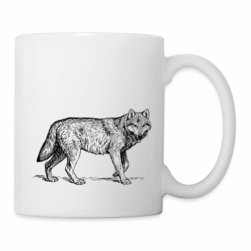 wolf T-shirt/wolf accessories/wolf apparel - Coffee/Tea Mug