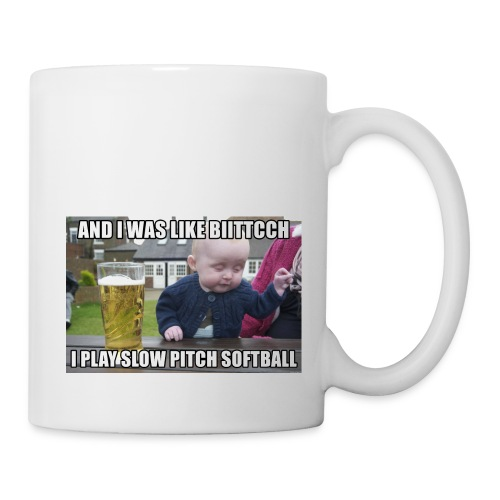 I play softball - Coffee/Tea Mug
