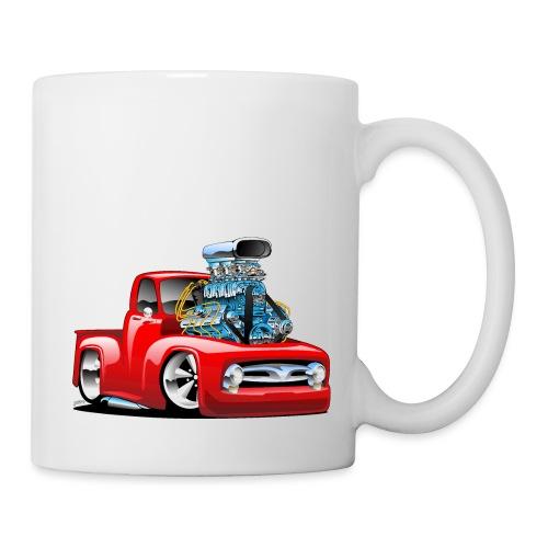 American Classic Hot Rod Pickup Truck Cartoon - Coffee/Tea Mug