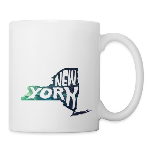 A New York State of Outline - Coffee/Tea Mug