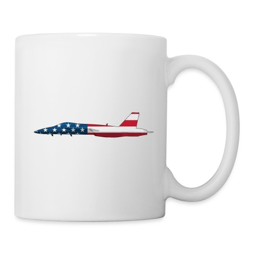 American Flag Military Jet - Coffee/Tea Mug