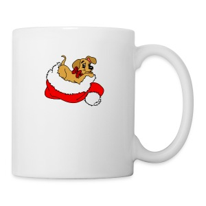 dog_xmas_color - Coffee/Tea Mug