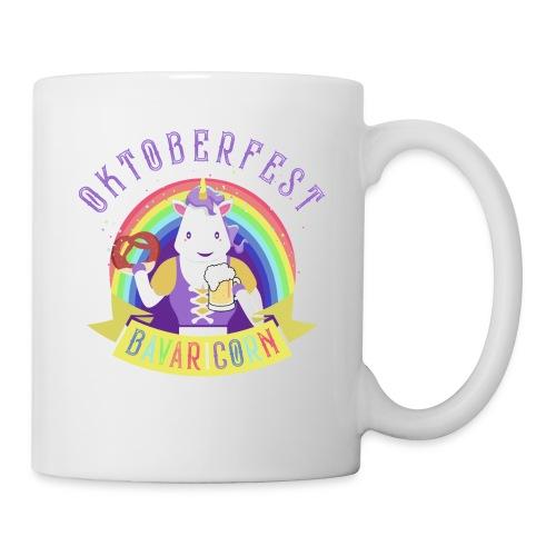 Funny Oktoberfest Unicorn with Pretzel & Beer Mug - Coffee/Tea Mug