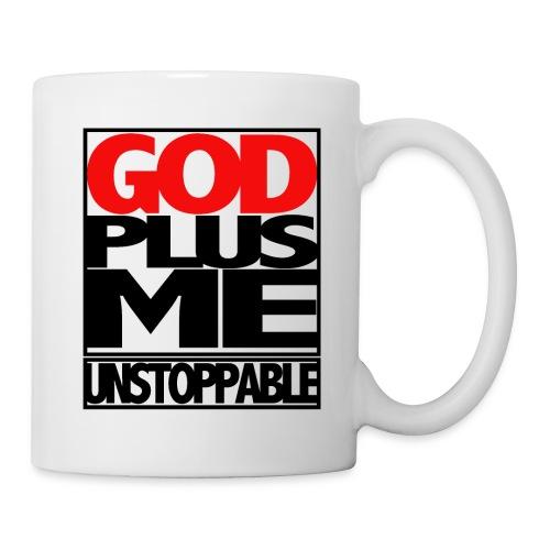 GOD PLUS ME (WHT TSHIRTS) - Coffee/Tea Mug