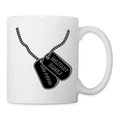 Military Family and Proud Dog Tags Illustration - Coffee/Tea Mug