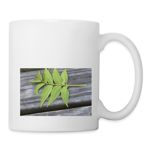 Leaf laying on the table - Coffee/Tea Mug
