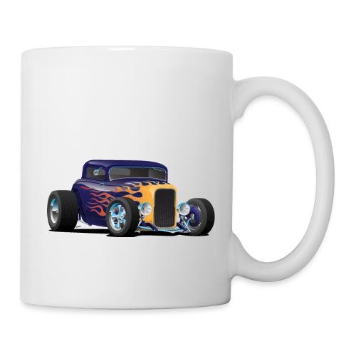 Vintage Hot Rod Car with Classic Flames - Coffee/Tea Mug