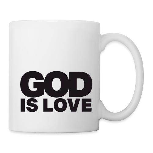 God Is Love - Ivy Design (Black Letters) - Coffee/Tea Mug