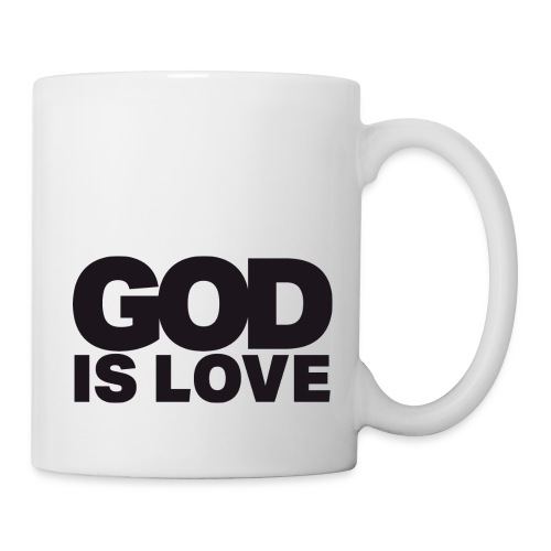 God Is Love - Ivy Design (Black Letters) - Coffee/Tea Mug