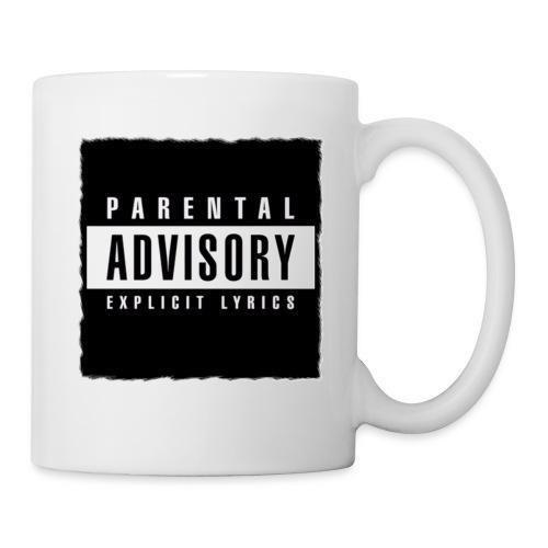 BLACK PARENTAL ADVISORY EXPLICIT LYRICS DESIGN - Coffee/Tea Mug