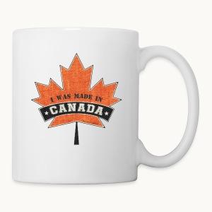 I WAS MADE IN CANADA -Linen -Carolyn Sandstrom - Coffee/Tea Mug