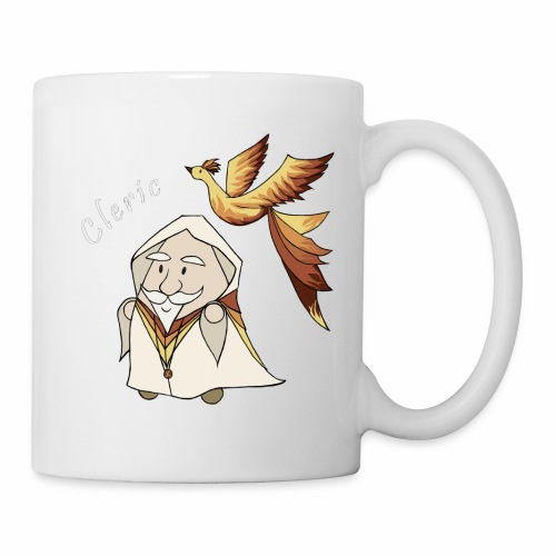 cleric white text - Coffee/Tea Mug