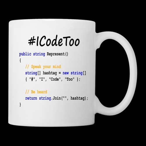 #ICodeToo coding diversity statement shirt - Coffee/Tea Mug
