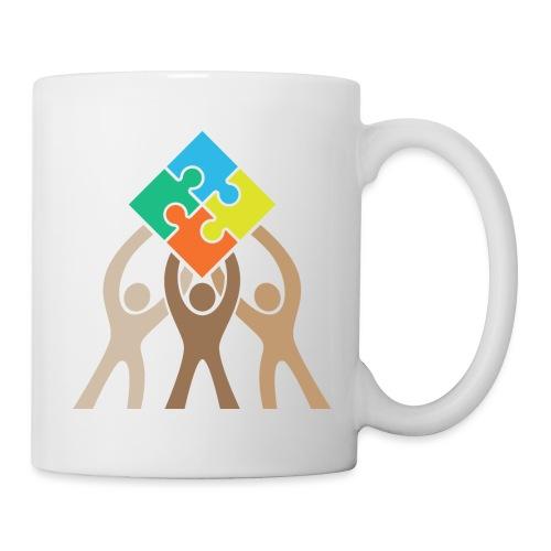Teamwork and Unity Jigsaw Puzzle Logo - Coffee/Tea Mug