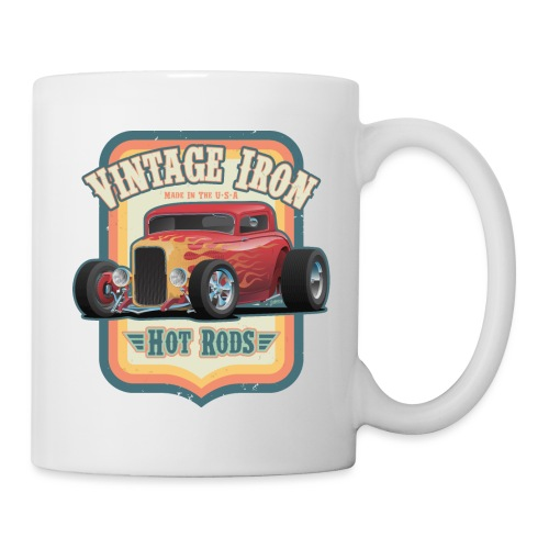 Vintage Iron Hot Rods Retro Car Lovers Design - Coffee/Tea Mug