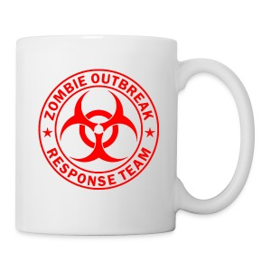 Zombie outbreak response unit red large - Coffee/Tea Mug