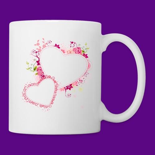 PINK HEARTS AND FLOWERS - Coffee/Tea Mug