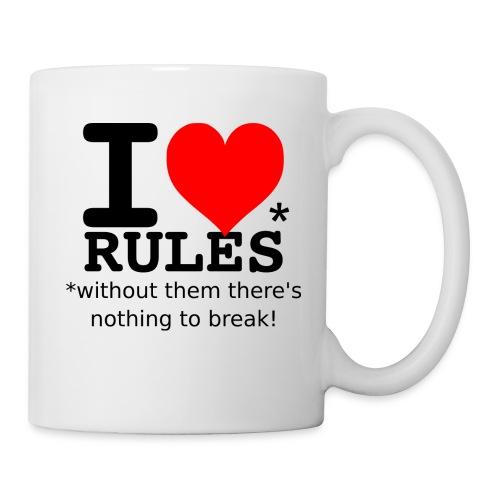 I love rules black - Coffee/Tea Mug