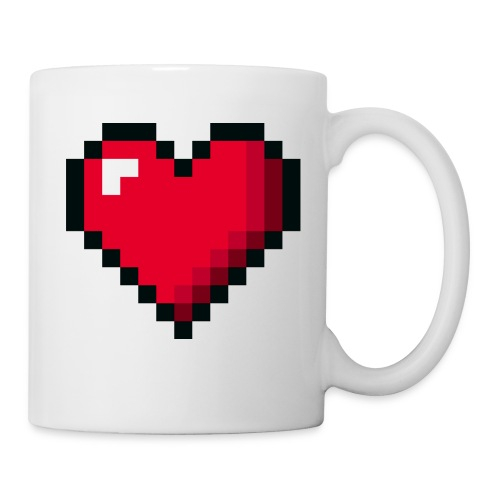 Pixel 8 bit Happy Valentine s Day Heart for Gamers - Coffee/Tea Mug