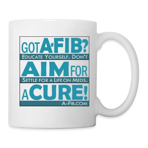 aim for a cure don t settle blue - Coffee/Tea Mug