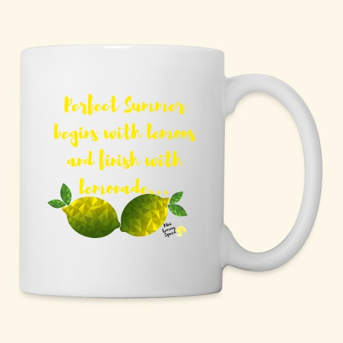 Perfect Summer begins with lemons and finish with - Coffee/Tea Mug