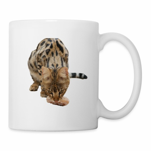 Ace F1 Savannah Eating a Donut - Coffee/Tea Mug