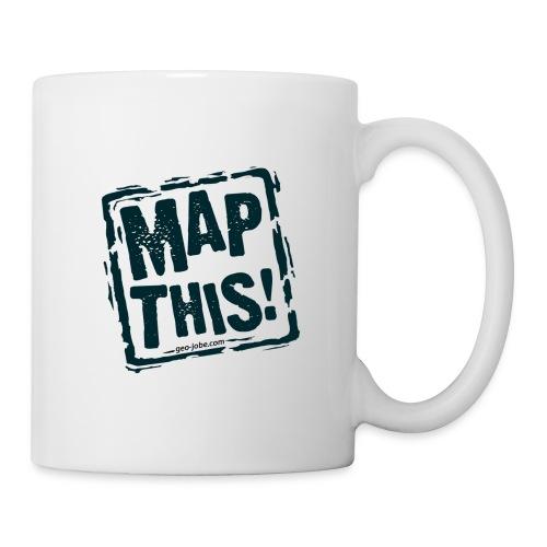 MapThis! Black Stamp Logo - Coffee/Tea Mug