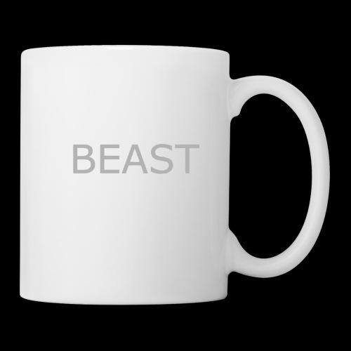 100% beast logo white - Coffee/Tea Mug