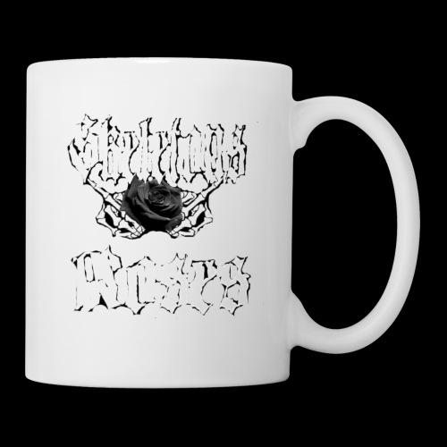 Skull Middle Finger Roses Design - Coffee/Tea Mug