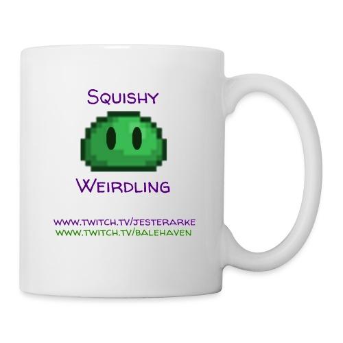 Green Squishy with addresses & white splash - Coffee/Tea Mug