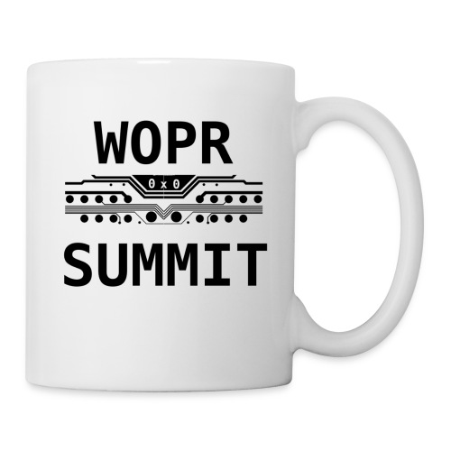 WOPR Summit 0x0 Black Text Misc - Coffee/Tea Mug