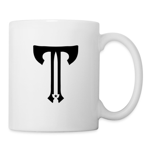 Axe Sword Icon Original blk transp Cropped - Coffee/Tea Mug