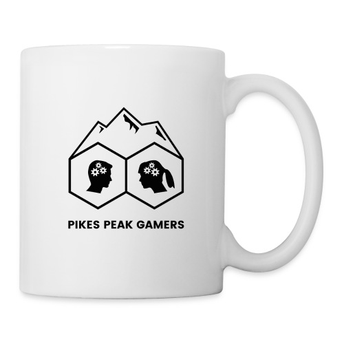 Pikes Peak Gamers Logo (Solid White) - Coffee/Tea Mug
