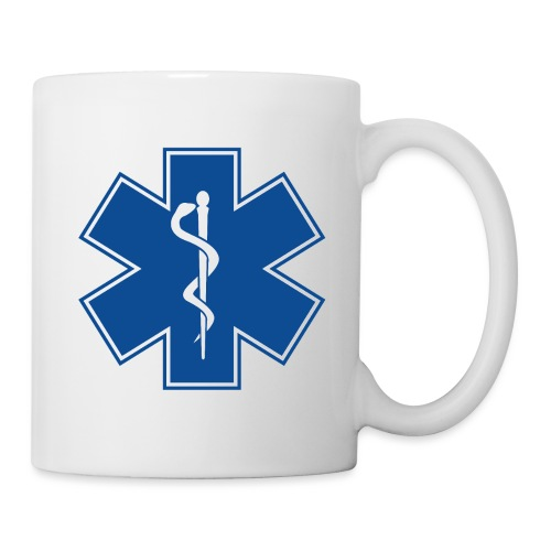 EMT Health Care Rod of Asclepius Medical Symbol - Coffee/Tea Mug