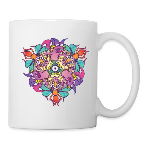 Mosquitoes, bats and fishes in doodle art style - Coffee/Tea Mug