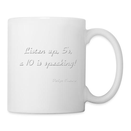 LISTEN UP 5 S WHITE - Coffee/Tea Mug