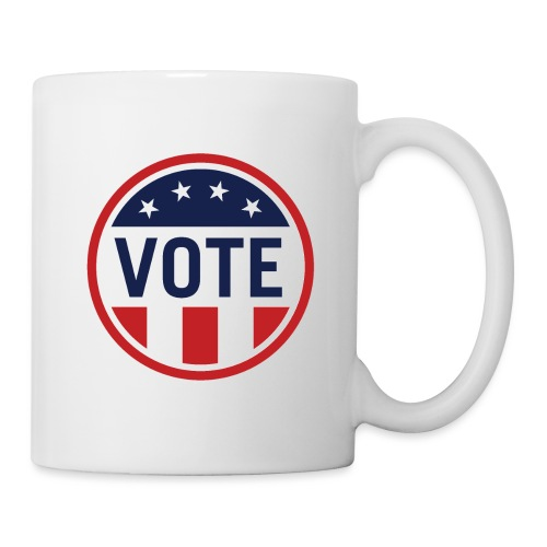 Vote Red White and Blue Stars and Stripes - Coffee/Tea Mug