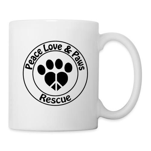 Peace Love & Paws Rescue Black Logo - Coffee/Tea Mug