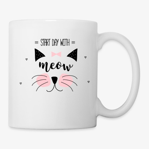 Start Day With Meow - Coffee/Tea Mug